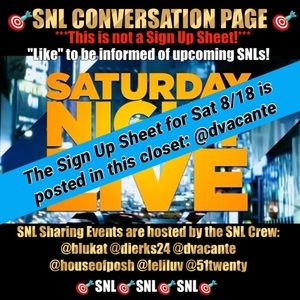 Other - 🎯SNL 8/18: go to @dvacante to sign up!🎯